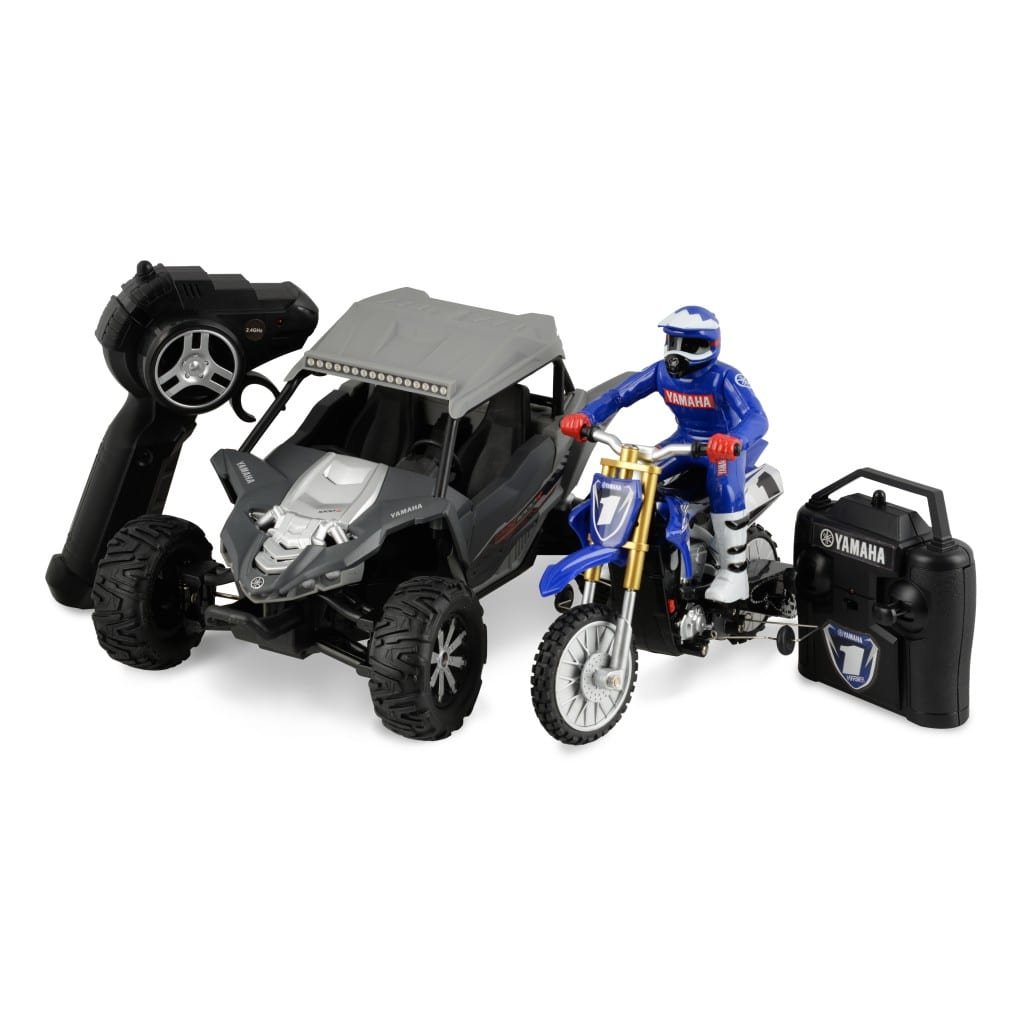 1 18 scale yamaha yxz 1000r rc two pack hyper toy company. Black Bedroom Furniture Sets. Home Design Ideas